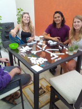 Playing board games - I won Upwards but lost Chicken Foot!